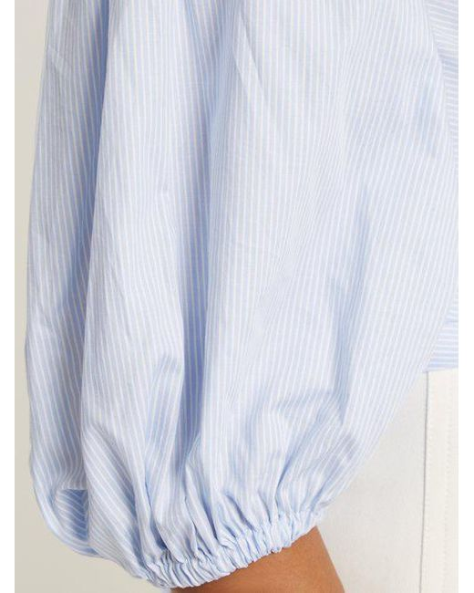 Visit Sale Online Farrah tie-back striped cotton top Elizabeth & James Footaction Online aGsY5oZ