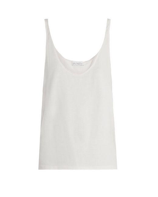 Raey - White Skinny Strap Cotton Jersey Vest - Lyst