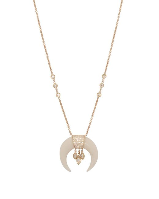 Jacquie Aiche - Metallic Diamond & Gold Necklace - Lyst