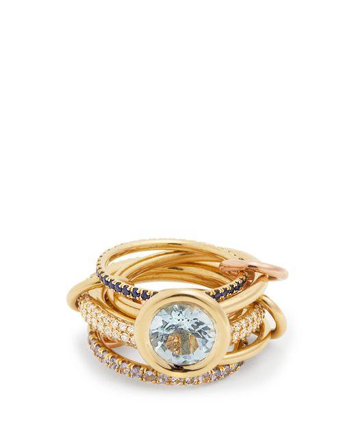 Spinelli Kilcollin - Metallic Rana Diamond, Yellow Gold & Rose Gold Rings - Lyst