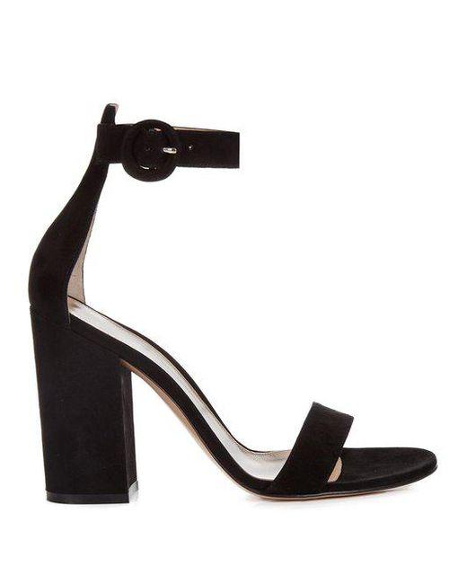 Versilia 100 Suede Sandals - Black Gianvito Rossi r5kL55nU