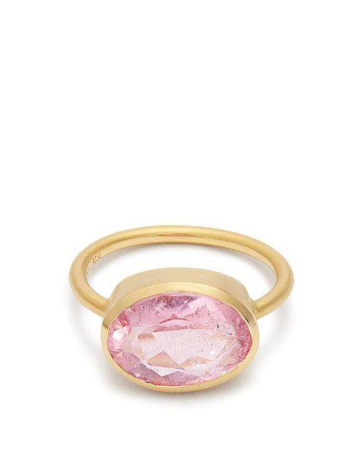 Irene Neuwirth - Pink Tourmaline & Rose-gold Ring - Lyst