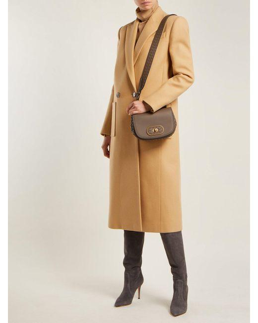 12940bf94da7 ... Bottega Veneta - Gray Bv Luna Leather Cross Body Bag - Lyst ...