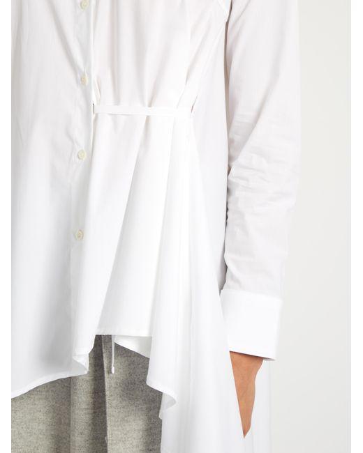 Extended waterfall-hem cotton-poplin shirt Palmer//harding The Cheapest Sale Online FyIcm