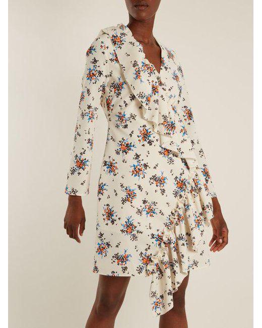 Free Shipping Shop For Store Cheap Online Asymmetric-ruffle crepe dress Msgm Cheap Discount Sale Vbe5J