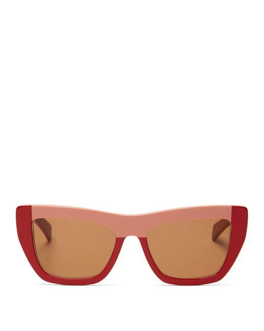 e6b2a40f380a Marni - Multicolor Colour Block Acetate Sunglasses - Lyst ...