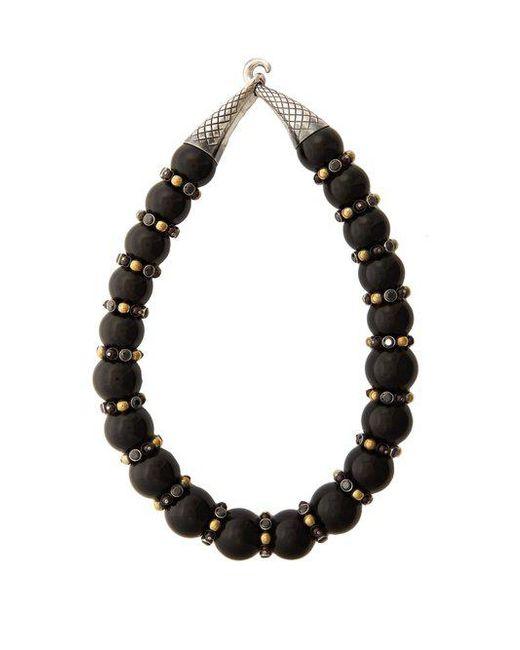 Bottega Veneta - Black Onyx And Cubic-zirconia Necklace - Lyst