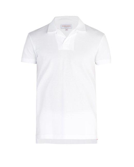 Orlebar Brown - White Felix Waffle-knit Cotton Polo Shirt for Men - Lyst