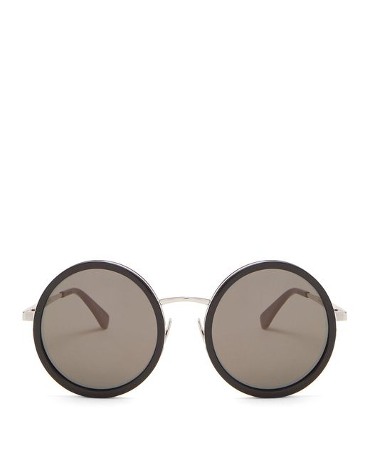 Saint Laurent - Multicolor Round-frame Acetate Sunglasses - Lyst