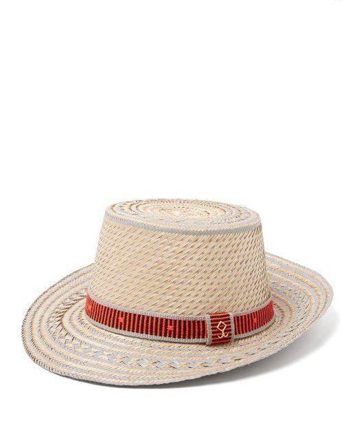 Juan striped straw hat Yosuzi 30rbq