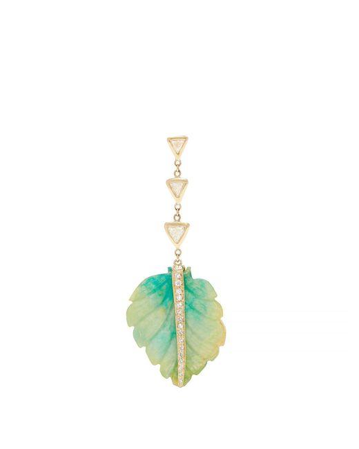 Jacquie Aiche - Blue Diamond, Opal & Gold Single Palm Earring - Lyst