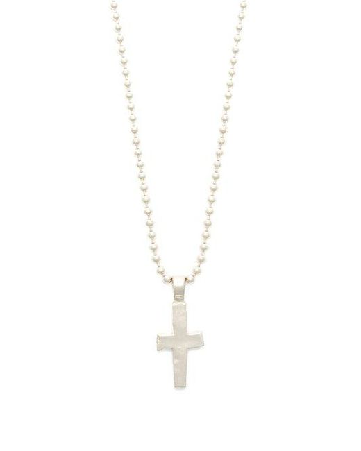 Aris Schwabe - Metallic Cross-pendant Sterling-silver Necklace for Men - Lyst