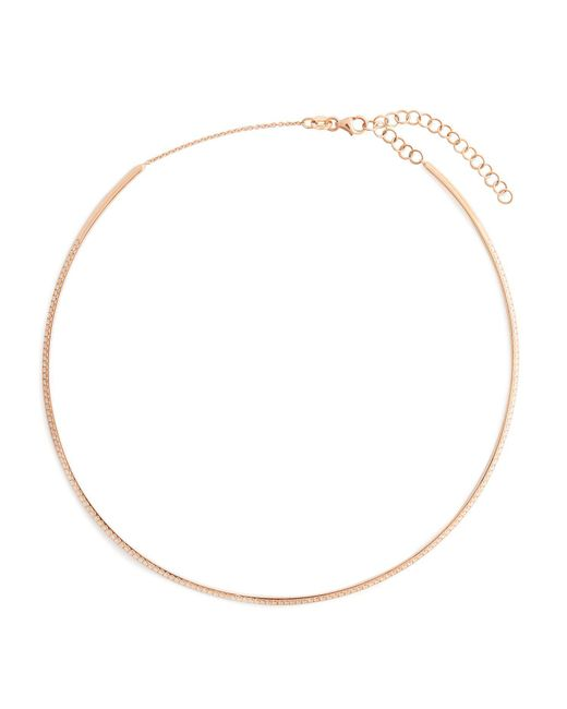 Diane Kordas - Metallic Diamond & Rose Gold Bar Choker - Lyst