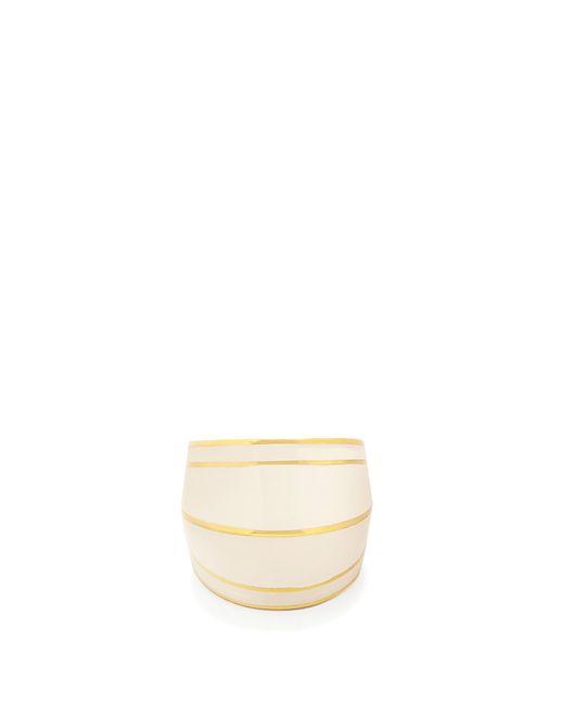 Aurelie Bidermann   White Gold-plated Enamel Ring   Lyst