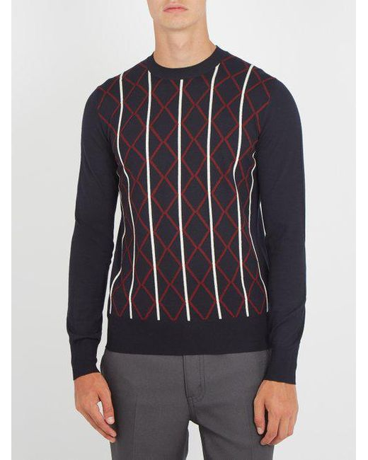 Choice Cheap Online Outlet Official Site geometric intarsia sweater - Black Prada U9jalnd