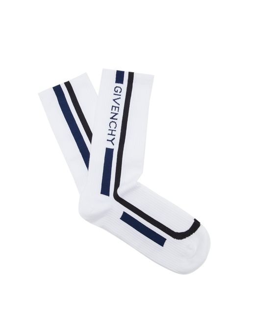 Givenchy - White Motocross Biker Cotton Socks for Men - Lyst