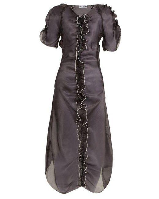 Molly Goddard - Black Erin Ruffle-trimmed Silk-organza Dress - Lyst