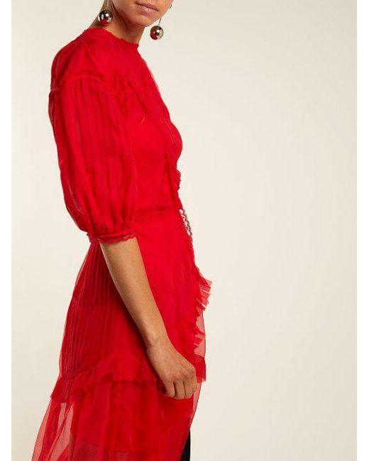 Risse pleated-panel silk dress Preen YxvHq8M8Y