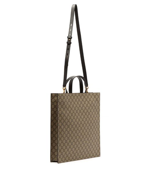 6f7ab68fe44683 ... Gucci - Natural Gg Supreme And Kingsnake Print Tote Bag for Men - Lyst  ...