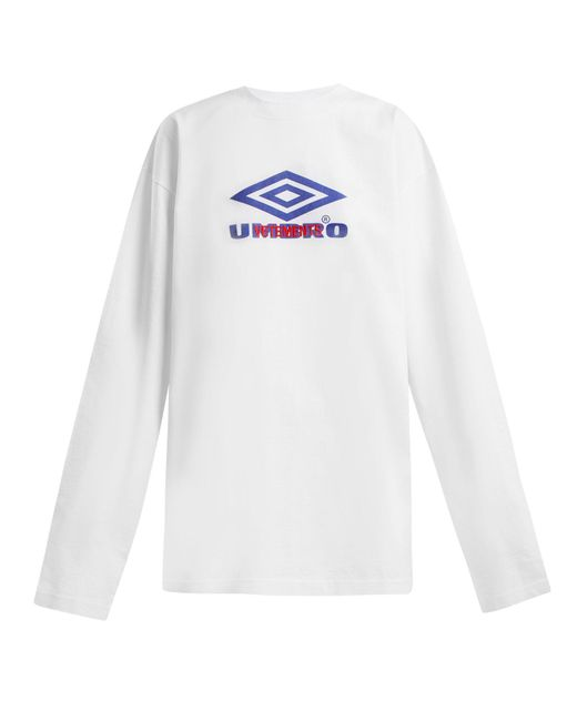 Vetements - White X Umbro Long Sleeved Cotton T Shirt - Lyst