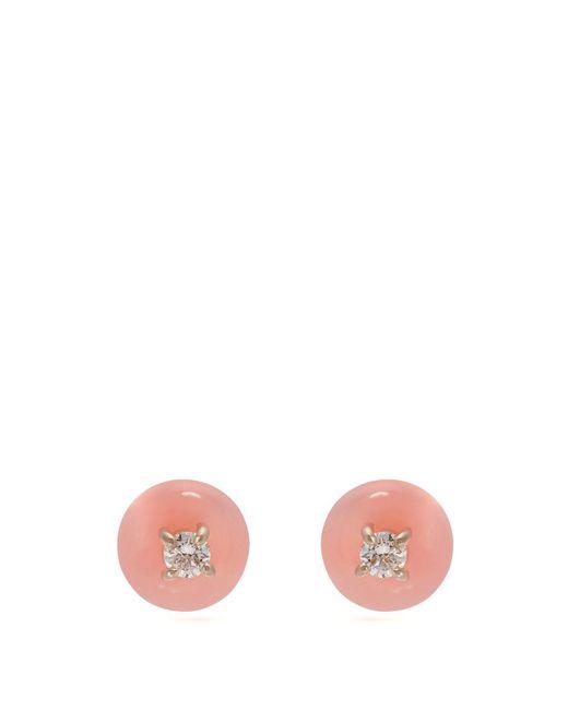 Irene Neuwirth - Pink Opal & Rose-gold Earrings - Lyst