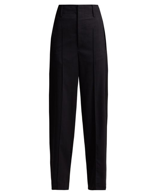 Isabel Marant - Blue Hami Striped Wool Blend Trousers - Lyst