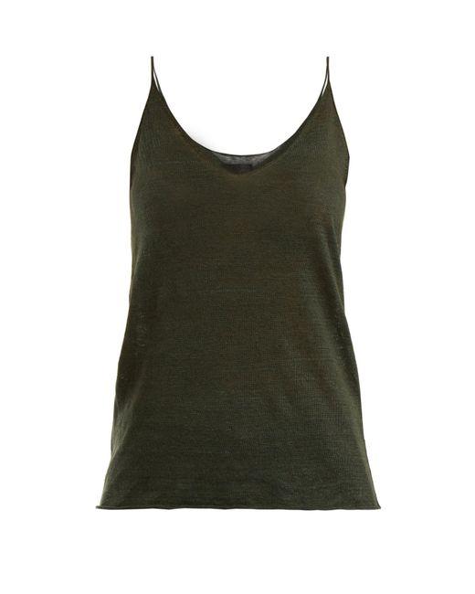 Nili Lotan - Green Verano Linen Cami Top - Lyst