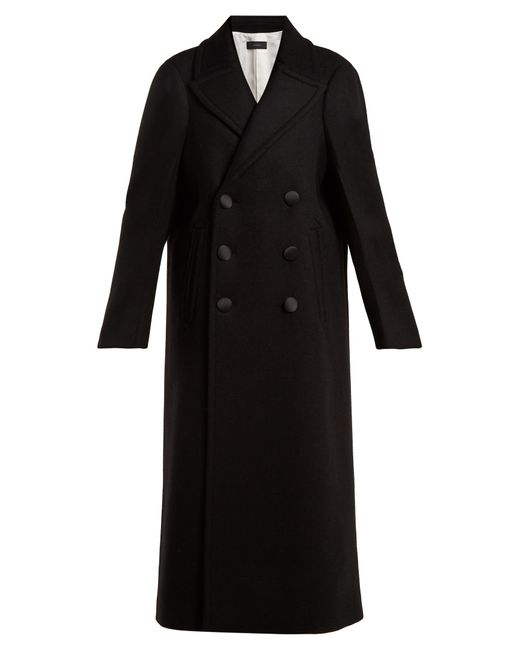 Joseph - Black Sys Oversized Double-breasted Wool-blend Coat - Lyst