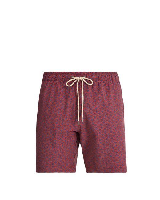 Faherty Brand - Red Beacon Print Swim Shorts for Men - Lyst