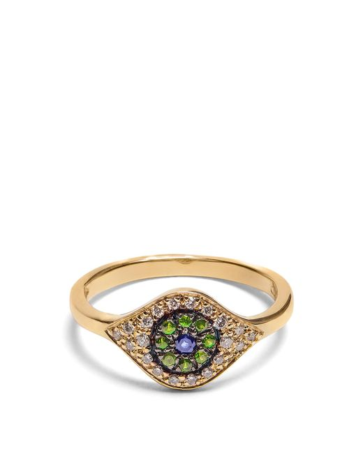 Ileana Makri | Metallic Diamond, Sapphire, Tsavorite & Yellow-gold Ring | Lyst