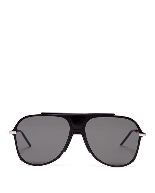 b1ed5a2e8 Dior Homme - Black Aviator Acetate Sunglasses for Men - Lyst ...