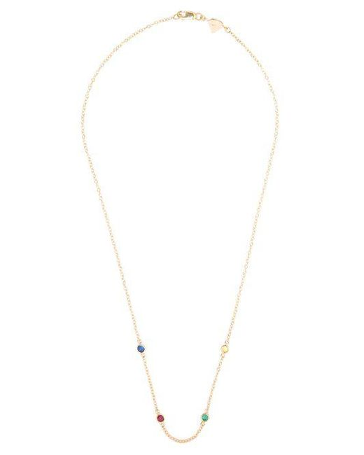 Alison Lou Sapphire, ruby, emerald & gold Twister necklace