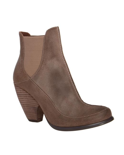Leon Max | Brown Java Distressed-Suede Ankle Boots | Lyst