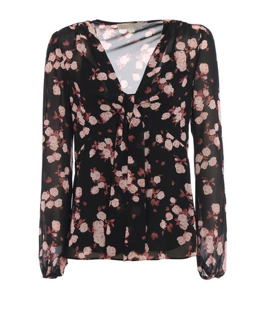 Michael Kors Black Multicolor Polyester Top