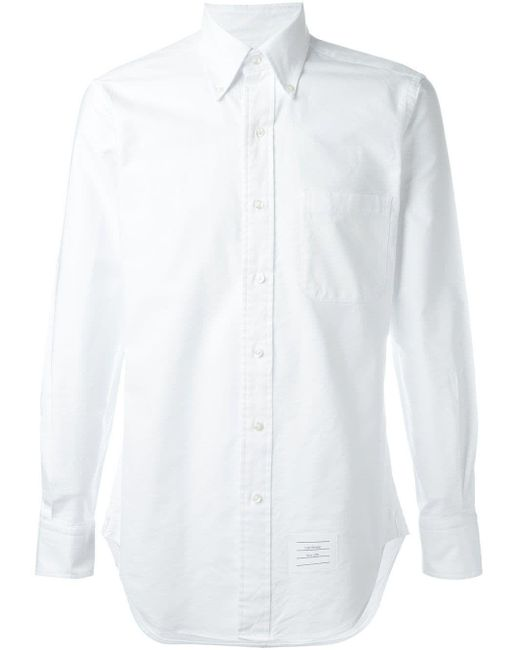 Thom Browne - White Cotton Shirt for Men - Lyst