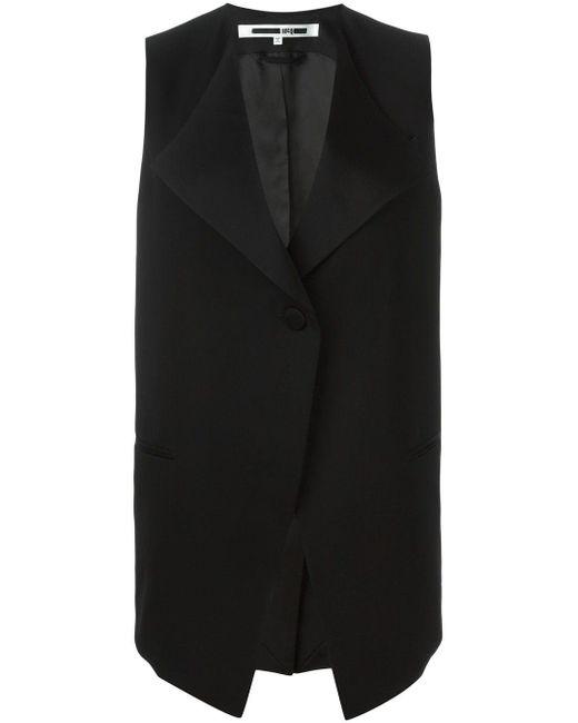McQ Alexander McQueen Black Wool Vest