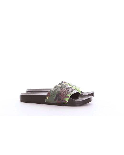Franklin & Marshall Black Rubber Sandals for men