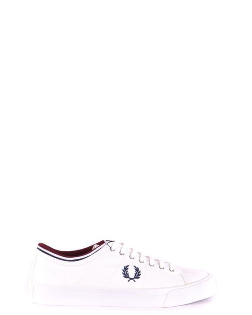 Fred Perry White Fabric Sneakers for men