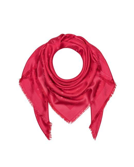 b73e7ebc5fc17 MCM - Multicolor Monogram Silk And Wool Jacquard Scarf - Lyst ...