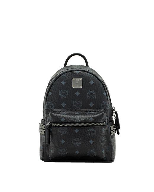 MCM - Black Stark Side Studs Backpack In Visetos - Lyst