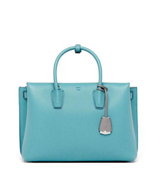 MCM | Blue Milla Tote In Park Avenue Leather | Lyst