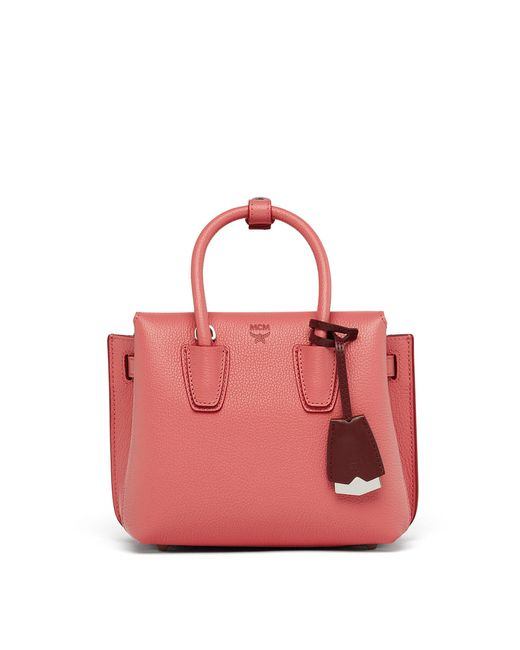 MCM | Pink Milla Tote In Park Avenue Leather | Lyst