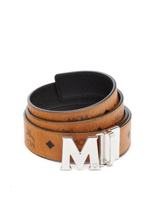 mcm claus reversible belt 1 5 u0026quot  in multicolor for men