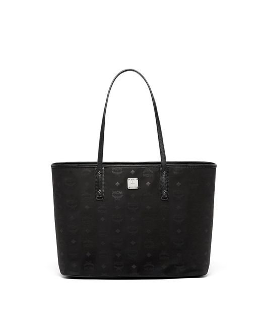 MCM | Black Dieter Top Zip Shopper In Monogrammed Nylon | Lyst