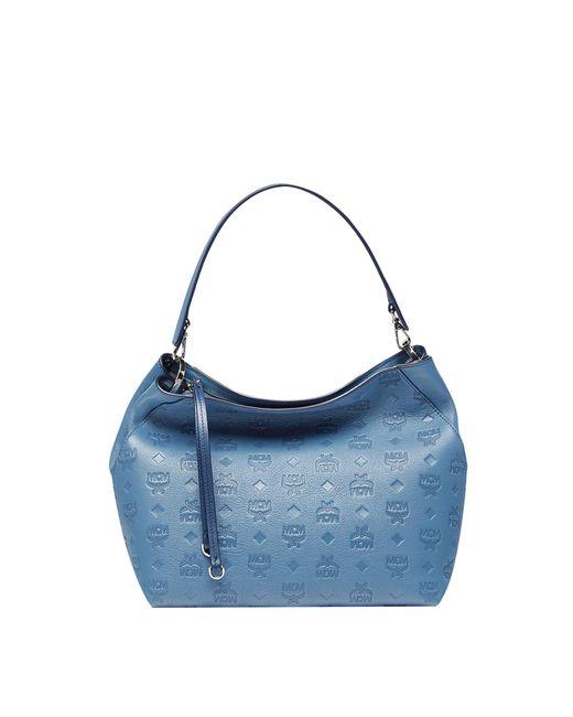 MCM - Blue Klara Hobo In Monogram Leather - Lyst
