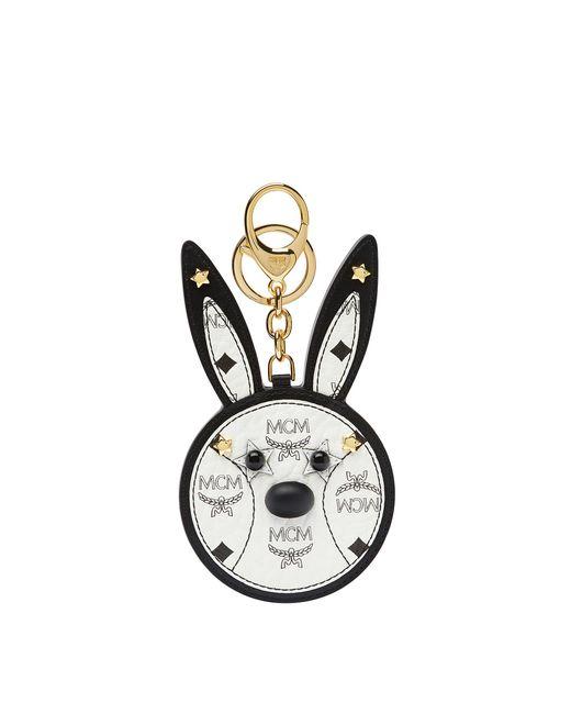MCM - White Rabbit Mirror Charm In Visetos - Lyst