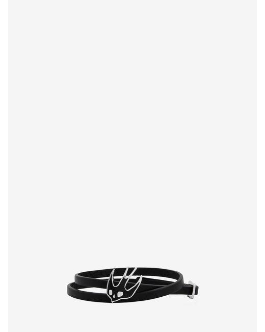 McQ Alexander McQueen | Black Swallow Mini Wrap Bracelet | Lyst