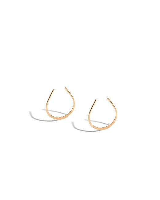 Melissa Joy Manning | Pink 7/8 Inch Horse Shoe Hoops | Lyst