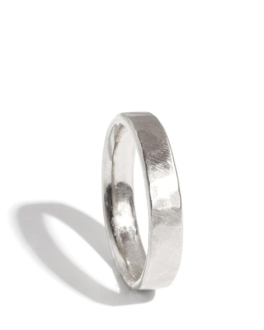 Melissa Joy Manning | Metallic 14k White Gold Hammered Texture 4mm Ring | Lyst