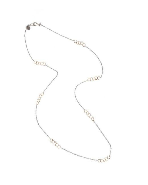 Melissa Joy Manning | Metallic 34 Inch Oxidized Silver Necklace With Mini Hammered Gold Links | Lyst